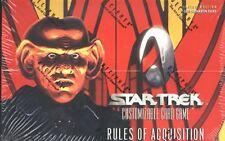 STAR TREK CCG : RULES OF ACQUISITION BOOSTER BOX - LOT OF 3