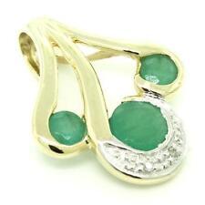 Emerald Yellow Gold Fine Necklaces & Pendants