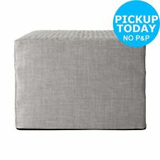Hygena Prim Fabric Single Ottoman Bed - Light Grey.