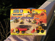Matchbox Action System 6 Gold Mining Pack Playset 1996 New & Factory Sealed!