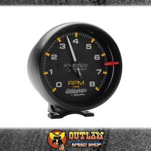 """AUTOMETER AUTOGAGE TACHOMETER BLACK, PEDESTAL MOUNT 3-3/4"""" 0-8000 RPM - AU2300"""