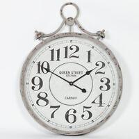 Extra Large 110 cm Vintage Cream Métal Chiffre Romain Horloge Murale Limited Qté