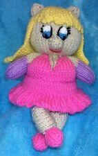 KNITTING PATTERN - Miss Piggy inspired choc orange cover / 20 cms Muppet Pig toy