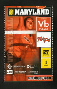 Maryland Terrapins--2006 Volleyball Pocket Schedule--FritoLay/Pepsi