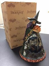 New Rare Jim Shore Spellbound 4012601 Heartwood Creek Halloween Witch Pumpkin