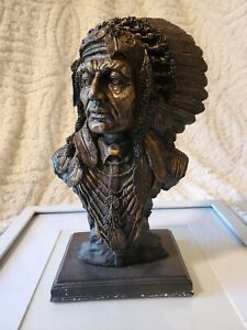 bronze like  indian chief bust youngs inc 1999 MIB