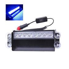 New Blue Warning Beacon LED Lamp Bar Car Strobe Light Flash Emergency Police