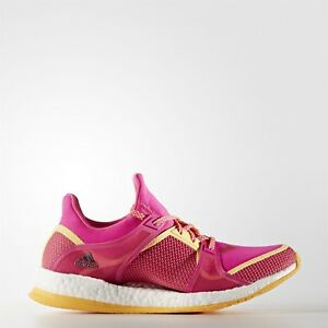 ADIDAS PURE BOOST X TR WOMENS RUNNING SHOE/TRAINER UK SIZES PINK/GOLD
