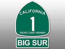 2 Pcs: 4x5.5 inch PCH Highway 1 Sign BIG SUR Stickers -road california route rv
