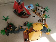 Playmobil Custom built Pirate Stronghold with Pirate Ship.