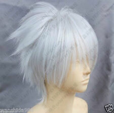 New Dramatical Murder DMMD Clear Short Silver White Cosplay Wig+gift