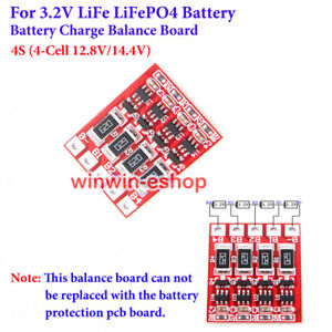 4S  3.2V 3.6V Cell 12.8V 14.4V LiFePo4 LiFe Battery Charger Module Balance Board