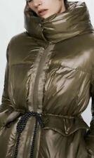 Zara Sorona DuPont Puffer S Coat Khaki Water Resistant