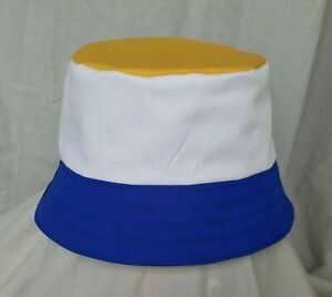 New Leeds United style bucket hat. 1990's football casuals. SZ M. Retro. LUFC
