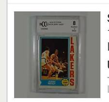 1974 Card Jerry West BCCG graded 8