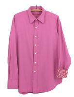 Robert Graham  button down Shirt  pink twill contrast flip cuff Mens size XL