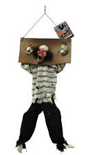 100cm Animated Kicking Legs Hanging Prisoner Skeleton Halloween Decoration Prop