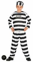 Boys Prisoner Convict Cellmate Inmate Fancy Dress Costume Childrens Outfit