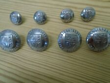 LEICESTERSHIRE FIRE BRIGADE / SERVICE BUTTONS, FULL SET