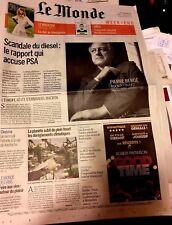 Le MONDE n°22599 d 9/9/2017*MACRON-EUROPE*Pierre Bergé*DIESELGATE*DISCRIMINATION