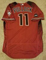 A.J. Pollock 2016 Arizona Diamondbacks Team Issued Jersey MLB Authenticated