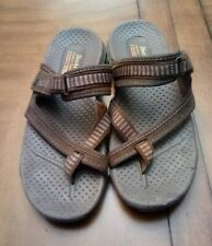 SKECHERS Brown Outdoor Lifestyle Slip-on Sandals Flats size 8