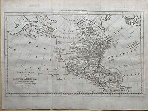 1770 North America by Thomas Bowen Original Antique Map showing British Colonies