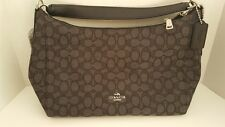 Coach East/West Celeste Conv Hobo in Outline Signature Handbag F58284 NWT AUTH