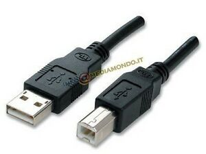 CAVO USB - 1,5 METRO A/B STAMPANTE SCANNER DISCO FISSO WEB CAM