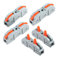 SPRING LEVER TERMINAL BLOCK ELECTRICAL CABLE CLAMP WIRE CONNECTOR QUICK SPLICE