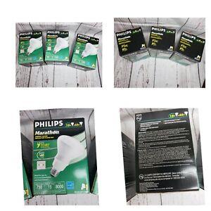 3 Philips 15W Marathon Energy Saving 750 Lumen Medium Base Reflector Flood R30