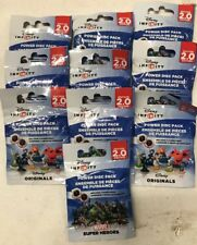 Disney's Infinity 2.0 Power Disc Packs, LOT Of 10 To Enhance The Video Game!!