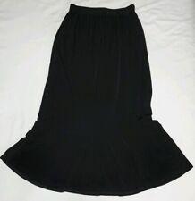 Carolyn Strauss Long Black Slinky Nylon Spandex Skirt Size Small