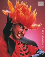 Red Orange Wig Fire Devil Halloween Fancy Dress