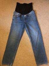 topshop maternity editor jeans over the bump size 28