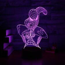 3D Optical Illusion Lamp Night Light,7-Color LED,Marvel Comics Spider Man Light
