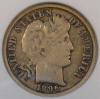 1896-O Barber Dime ANACS F12 Old Small Holder