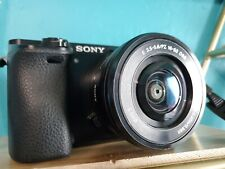 Sony alpha a6000 Mirrorless digital camera w/16-50 mm Black Great Condition Used
