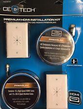 CE TECH Premium 15Ft High Speed HDMI/RG6 Installation Kit 0000-245-187