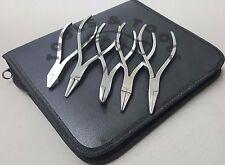 120 mm 5 PINZE KIT FLAT ROUND CATENA CVD Chain & Cutter gioielli ottica dentale