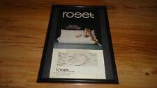 ROSET TOGO DESIGNER SOFA-1982 Framed original advert