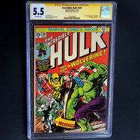 INCREDIBLE HULK #181 CGC SS 5.5 💥 SIGNED BY STAN LEE 💥 1ST FULL APP WOLVERINE!