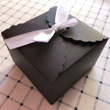 10x Black Gift Favour Boxes Birthday Party Wedding candy soap Cake Boxes 9x9x6cm