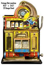 Vintage Rol A Top Slot Machine Reproduction Laser Cut Out Metal Sign 16.5x24.5