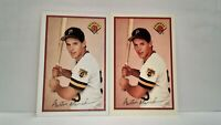 Uncirculated 1989 Bowman Tiffany ROOKIE Austin Manahan + Matching Bowman