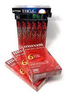 NEW Lot 11 Blank VHS Tapes SEALED Maxell JVC Fujifilm TDK T-120sx