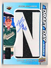 """2013-14 SP Game Used Mikael Granlund Draft Day Mark Letter """"N"""" Patch Auto Rc /35"""