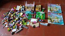Lego Friends 41037 La Villa Sur La Plage à compléter + Vrac lego + 2 personnages