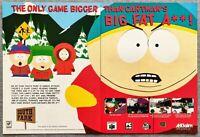 South Park PS1 Playstation N64 | 1998 Vintage Game Print Ad Poster Art Cartman