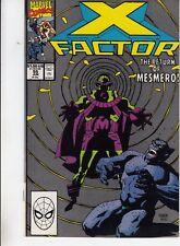 X-FACTOR  #55 1990 STAN LEE -RETURN OF MESMERO-SEEKING VERA- DAVID/ROSEN...VF+